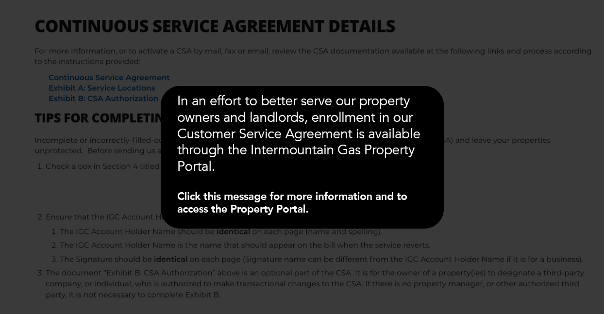 intermountain gas property portal